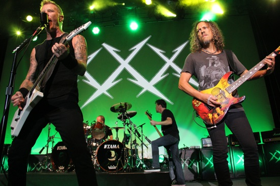 Metallica reunited with former bassist Jason Newsted for their 30th Anniversary series last week at the Fillmore (Photo Credit: SF Weekly)